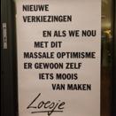 Loesje poster entree foto Marte Kappert